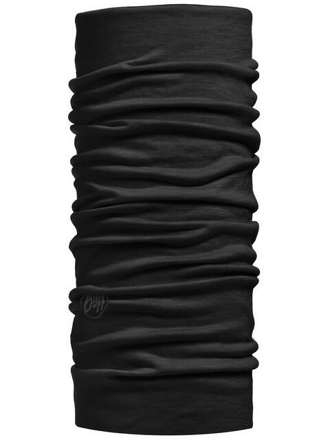 Buff Lightweight Merino Wool Neck Tube Solid Black